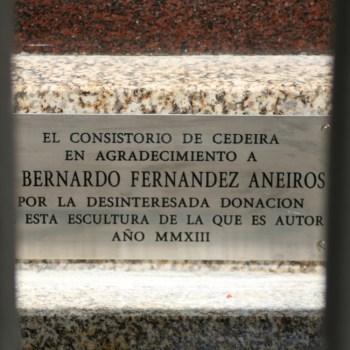 """Placa asinada por """"El Consistorio de Cedeira"""""""