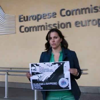 A eurodeputada Ana Miranda  en Bruxelas