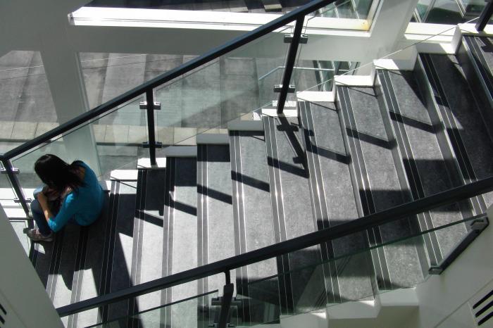 Auditorio de Cedeira, detalle das escaleiras