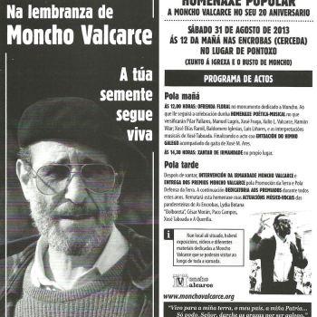 Homenaxe Popular a Moncho Valcarce no seu 20 aniversario