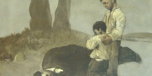 Castelao dedicáballe a estampa número seis do álbum Galiza Mártir (1937) a Alexandre Bóveda: