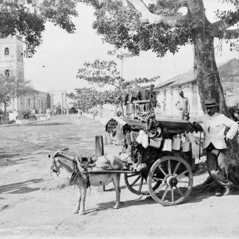 Goat wagon peddler, Cuba, ca.1895-1920