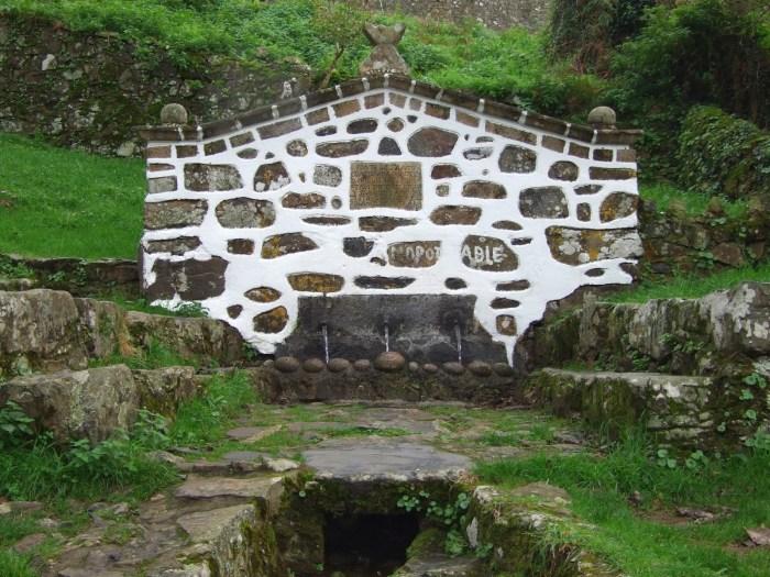 Fonte dos tres canos en Teixido