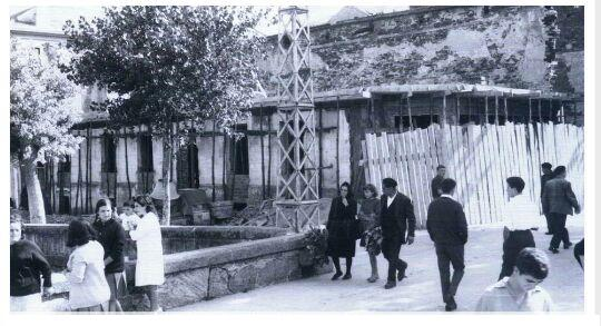 Teatro Arrivi despois do incendio, contra 1960