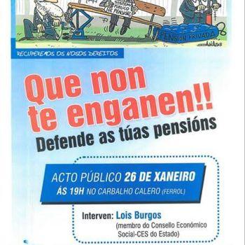 Manifestación nacional en defensa do sistema público de pensións