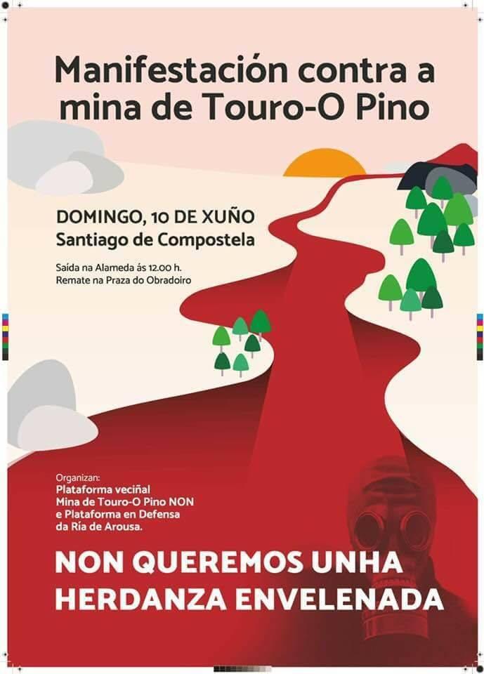 Manifestación contra a mina de Touro-O Pino,10 xuño en Compostela