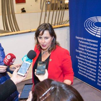 Ana Miranda MEP en el Parlamento Europeo, Bruselas, 28 de febrero 2018