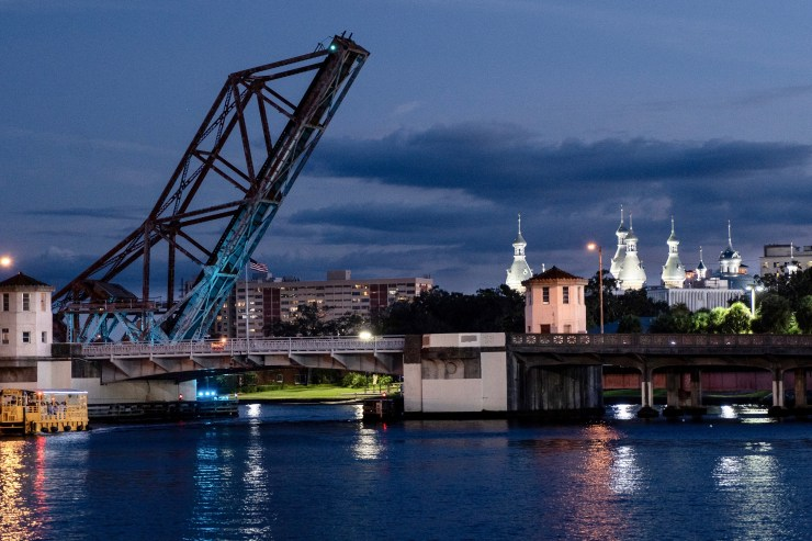 Cass Street bridges and the University of Tampa minarets–Kathy Coniglio