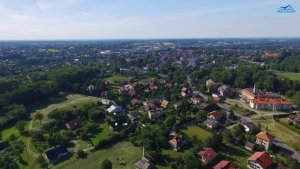 Aerial view of Andrychow today