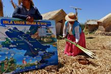 uros island life depends on these reeds, or 'totoras.'