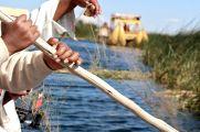laying the fishing nets.