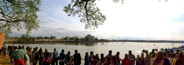 45 washington dc tidal basin jefferson memorial cherry blossoms panorama
