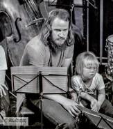 Paroni Pakkunainen poikansa ja sopraanosaksofonin kanssa, Pori Jazz 1972