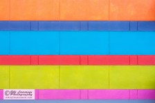 All the colors on a wall.