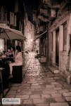 Small alleys with small restaurants
