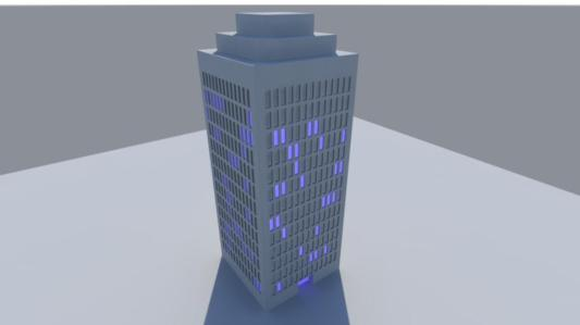 building first render day