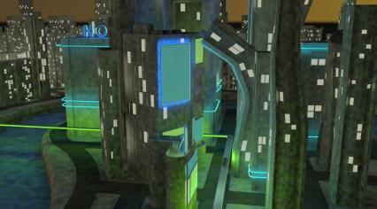 neon lights test light blue
