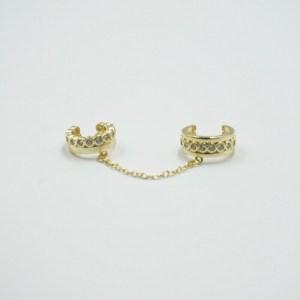 Ear Cuff doble con cadena