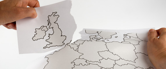 Brexit - Great Britain leaves the EU - map cutting