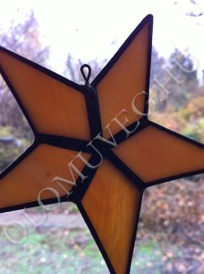 Csillag - Tiffany üveg ablakdísz | olomuveg.hu