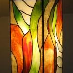 Modern laplámpa Tiffany üvegből