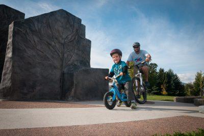 Family time at Riverside Park in Kamloops