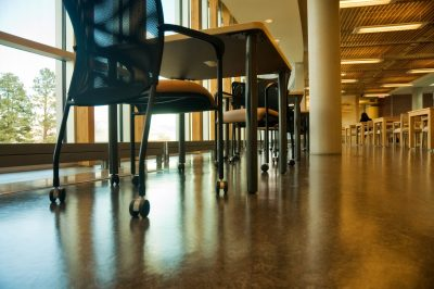 Interior photo shoot of Brown House of Learning at Thompson Rivers University in Kamloops