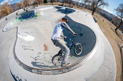 BMX riders at Mac Island Park in Kamloops