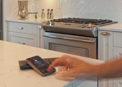 Smart Home digital control system photo shoot