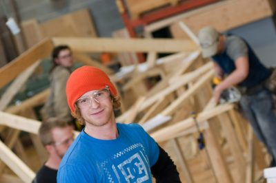 TRU Trades Carpentry Program photo shoot
