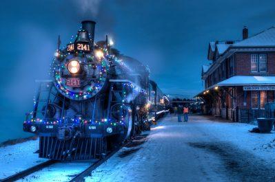 "Commercial photoshoot of Kamloops Heritage Railway ""Spirit of Christmas"" Train"