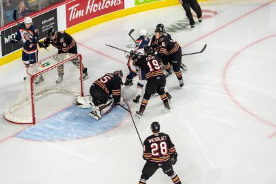 Sports photoshoot of Blazers Memorial Cup Anniversary celebrations