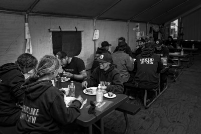 Editorial photoshoot of BC Wildfire Camp in Kamloops, BC