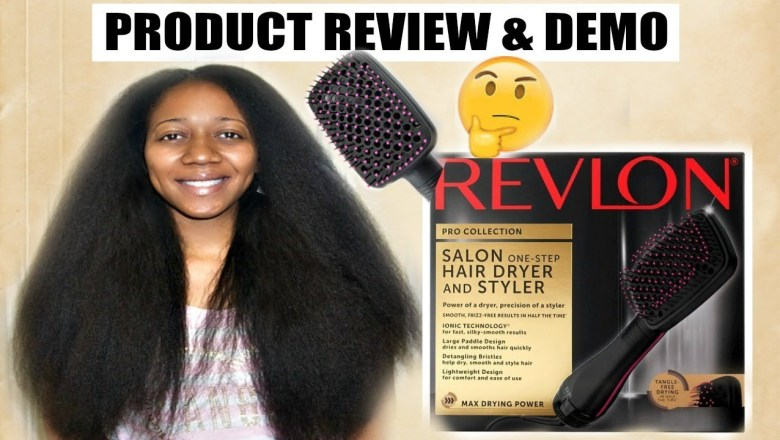 REVLON PADDLE BRUSH BLOW DRYER ON TYPE 4 NATURAL HAIR—PRODUCT REVIEW!!!