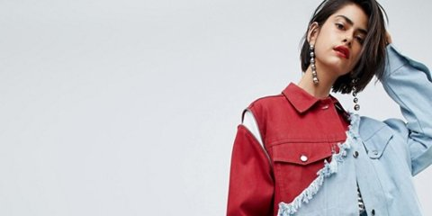 This bizarre $395 frayed denim jacket from ASOS has been described as 'a millennial shedding its skin'