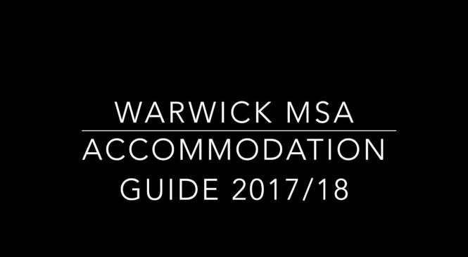 Warwick MSA Accommodation Guide 2017/2018