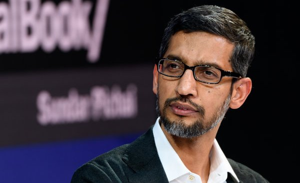Sundar Pichai of Google Heads to Capitol Hill
