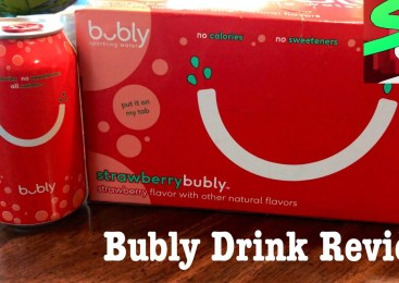BUBLY ZERO CALORIE STRAWBERRY SPARKLING WATER DRINK REVIEW