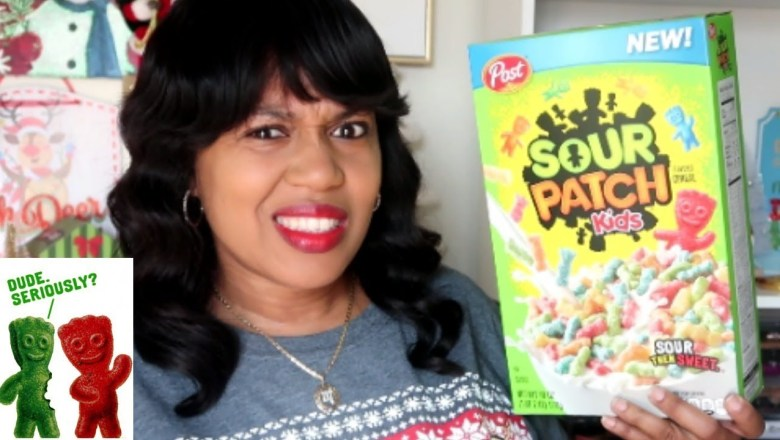 FOOD REVIEW!!! SOUR PATCH KIDS CEREAL  & A FEW MORE