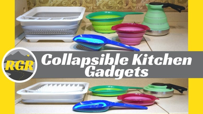 Collapsible Kitchen Gadgets   Product Review   Collapsible Silicone Dishware for RVing & Camping