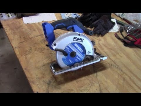 Kobalt 24v Brushless Circular Saw ~ Working Tool Product Review