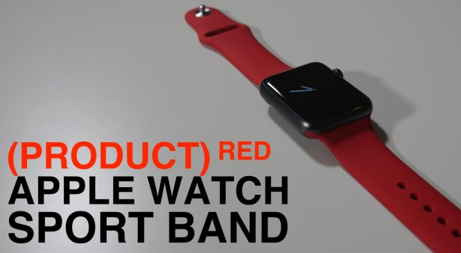 PRODUCT RED APPLE WATCH SPORT BAND