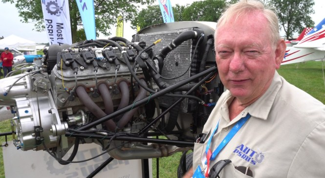 LS3 Automotive V8 Engine With Auto PSRU's Geared Drive For Aviation Use