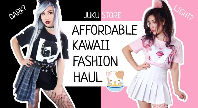 Affordable Japanese and Korean Fashion Try-On Review   ♡ Punky or Kawaii?     Feat. JUKU STORE