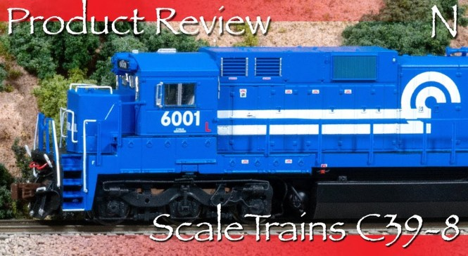 Product Review N ScaleTrains C39-8 Locomotive