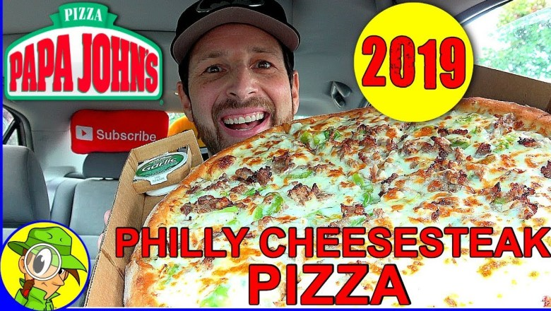 Papa John's®   Philly Cheesesteak Pizza   Food Review! 🍕🔔🧀🥩