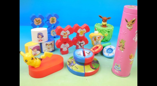 2013 POKEMON SET OF 6 McDONALDS HAPPY MEAL KIDS TOYS VIDEO REVIEW (JAPAN)