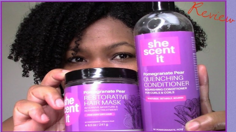 She Scent It Pomegranate Pear Collection. Natural Hair Product Review