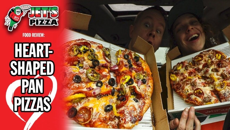 Jet's Pizza's Heart-Shaped Pan Pizza Food Review | *VALENTINE'S DAY 2019* | #SPONSORED