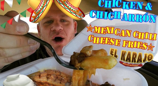 MEXICAN ☆Chicken & Chicharrón CHILI CHEESE FRIES☆ Food Review!!!